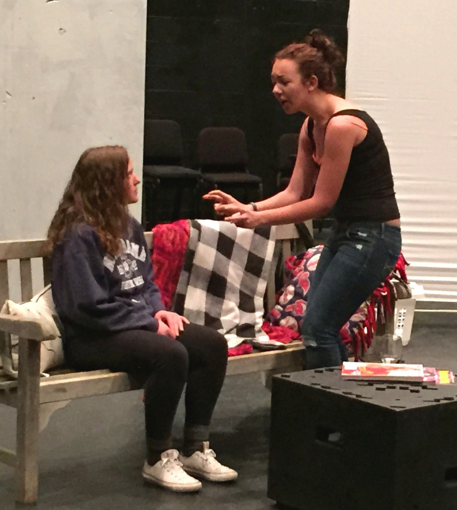 Denison acting students perform a scene from REALLY REALLY