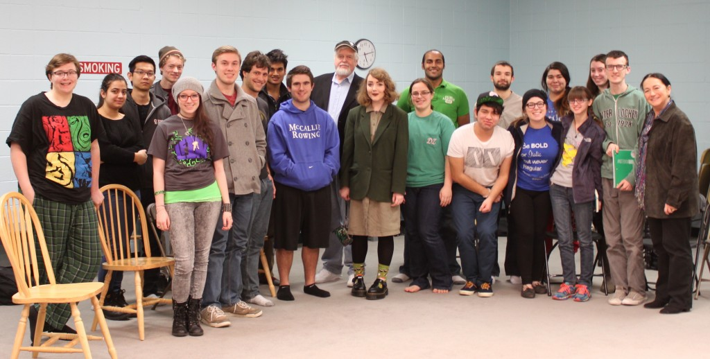 Geoff Nelson with Theatre Students and Faculty at Ohio Wesleyan University